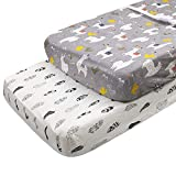 ALVABABY Cradle Mattress 100% Organic Cotton Soft and Light Baby Changing Pad Cover for Boys and Girls