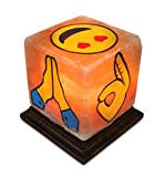 Himalayan Secrets Salt Art Lamps Himalayan Crystal Salt Hand Painted Emoji Characters (Style 202-EMOJIHANDS)