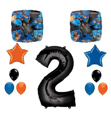 (Mayflower Products NEW How to Train Your Dragon 2nd Birthday Party Supplies and Balloon)