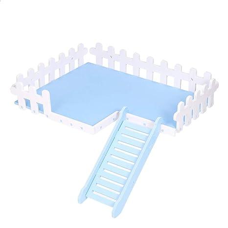 POPETPOP Juguetes de hámster Plataforma Escalera de Arrastre Jaula ...