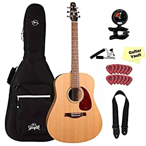 Seagull S6 Original Acoustic Guitar With Seagull Padded Gig Bag and Accessory Pack