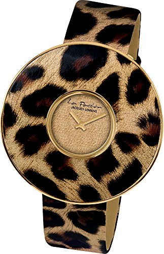 Jacques Lemans La Passion LP-121A Wristwatch for women Leopard look