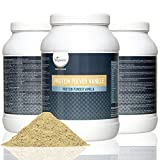 Complete Vegan Protein Powder 800g | Advanced Combination of Pure Plant Based Proteins - Soy, Pea, Rice, Lupine and Hemp | 18 Amino Acids, Diet and Sports Supplement | High Protein and Low Carb Content | Flavour: Silky Vanilla or Rich Chocolate | VEGAN by Vegavero (Vanilla)