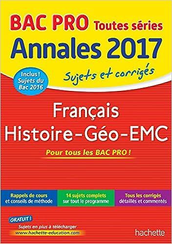 Sujets et corrigés français histoire-géo bac pro: 9782012903579: Amazon.com: Books