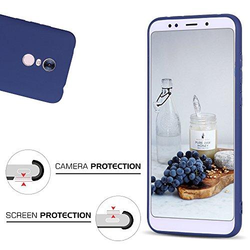 Funda Xiaomi Redmi 5 Plus, CaseLover Suave TPU Silicona Carcasa para Redmi 5 Plus Ultra Delgado Flexible Mate Goma Gel Protectiva Caso Anti Rasguños Cubierta Case Cover Anti Choque Caja - Negro Azul oscuro