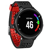 ABC Luxury Soft Silicone Replacement Strap Watch Band for Garmin Forerunner 620/630/735 Watch (Black)
