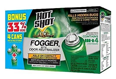 Hot Shot Indoor Pest Control Fogger, Bonus Size