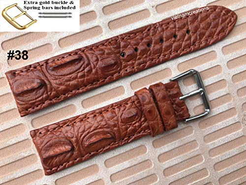 Genuine CROS/GATOR Skin Leather Watch Strap Band for men Handmade