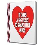 Thank You Teacher Quote Gift - Notepad - Notebook - for A Teacher Nursery Nurse TA Teaching Assistant
