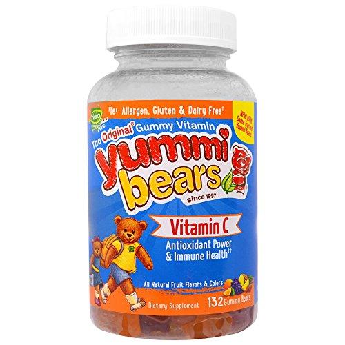 (Hero Nutritional Products, Yummi Bears, Vitamin C, 132 Gummy Bears - 3PC )