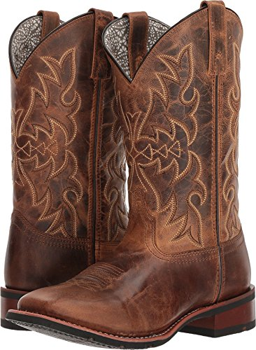 Temperate New Western Cowboy Brown & Red Smoky Mountain Boots Youth