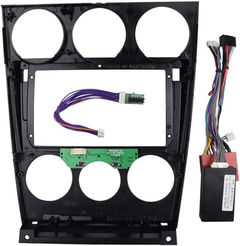 PSOIHGTFS 9 Inch Car Radio Fasica Fit for Mazda 6 2004-2016 CD DVD GPS Bezel Dashboard Installation Trim Refitting Kit Frame Dash Kit Cable