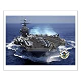 "CafePress - USS Carl Vinson CVN-70 - 16""x20"" High Quality Poster on Heavy Semi-gloss Paper"