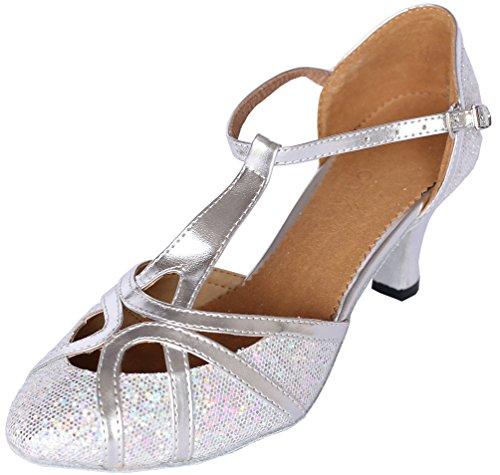 En Chacha Salsa Personnalisés nbsp;cm Latin Jj T 4 Argenté Chaussures De 6133 nbsp;cm Cfp Pu 1 Danse nbsp;pour Talon Tango 6 Femme Piste 8 UqYC0w
