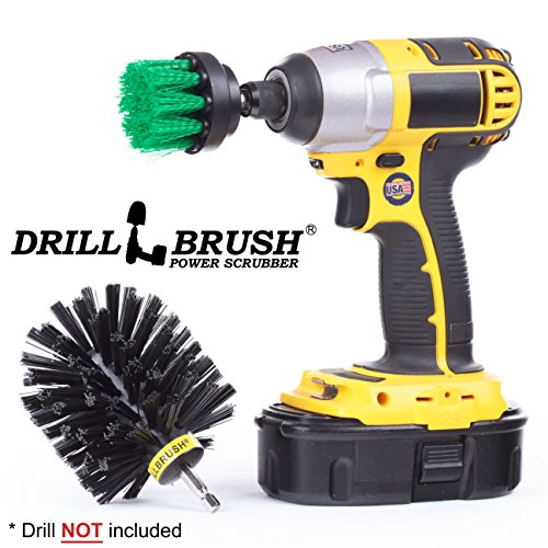 Cleaning Brush Attachment Accessory for Cordless Battery Drill by Drillbrush