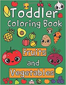 Toddler Coloring Book Fruits Vegetables product image