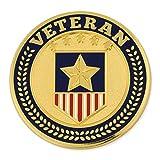 PinMart Military Veteran American Flag Jewelry Veteran's Day Lapel Pin