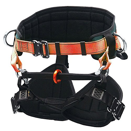 TreeUp Belt Harness TH 030 For Climbing, Tree Care Safety Harness size: S, Colour: orange