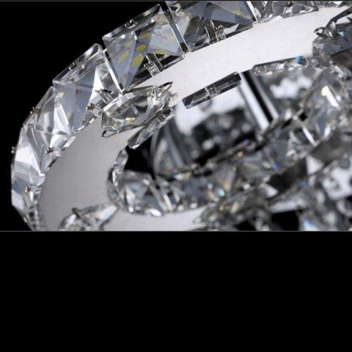 LightInTheBox Modern Led Flush Mount 6 Light Transparent Crystal Stainless Steel 220-240VHome Ceiling Light Fixture Flush Mount, Pendant Light Chandeliers Lighting,Color=White