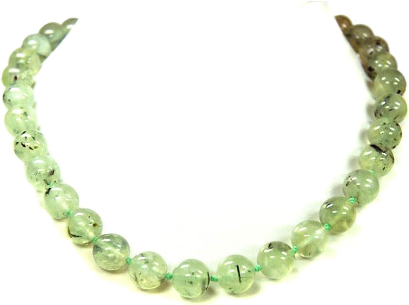 Außergewöhnlich schöne Halskette aus Edelsteien Lava /& Fossilachat in Kugelform