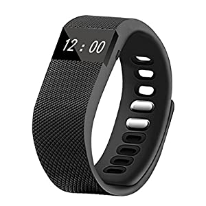TOLEDA Fitness Tracker, W64 Activity Wristband-Bluetooth Wireless Smart Bracelet, Waterproof Pedometer Activity Tracker Watch for IOS & Android Smartphone by Chige (Black)