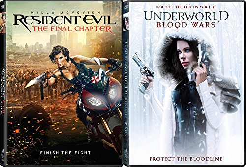 Vampires & Zombies Cult Collection Resident Evil: The Final Chapter & Underworld: Blood Wars 2-DVD Bundle
