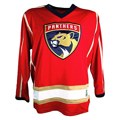 OuterStuff NHL Florida Panthers Men's Embroidered Practice Away Hockey Jersey, Red