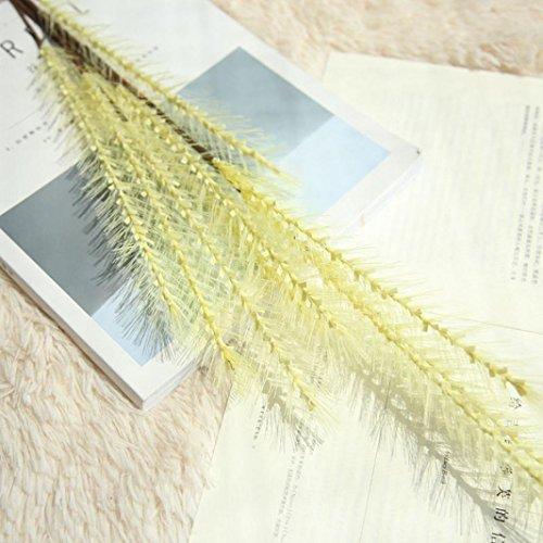 Inverlee 1Pcs Artificial Flowers Grass Floral Fake Flowers Wedding Bridal Bouquet DIY Home Garden Decor (Yellow)