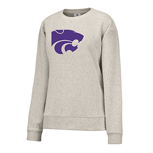J America NCAA Kansas State Wildcats Women's Innovator Crew Sweatshirt, Small, Oatmeal