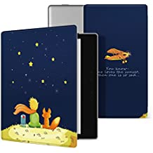 Ayotu Colorful Case for Kindle Oasis-(9th Gen, 2017 Release Only) Lightweight Premium PU Leather Cover with Auto Wake/Sleep, Strong Adsorption for All-New 7''Kindle Oasis Case,KO-09 The Boy and Fox