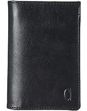 محفظة جلد طبقتين مستطيلة بشعار امامي للرجال من الفا ليذر كو