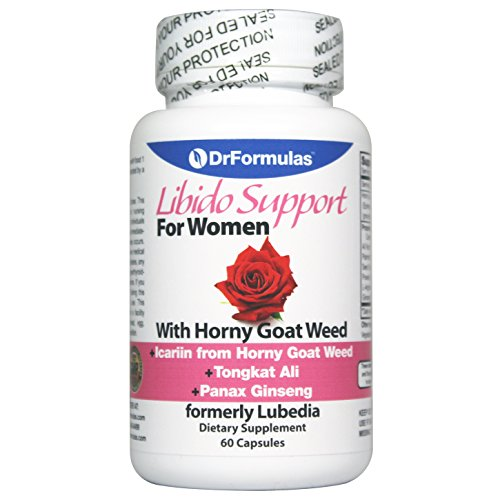 DrFormulas Libido Booster Enhancer For Women, Horny Goat Weed Extract with Maca, Epimedium and Icariin, Female Enhancement Supplement Pills (Formerly Lubedia), 60 Capsules (Not Powder)