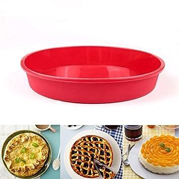 Cake Bakeware – Molde para pan, molde de tarta de silicona redondo pie tortitas de