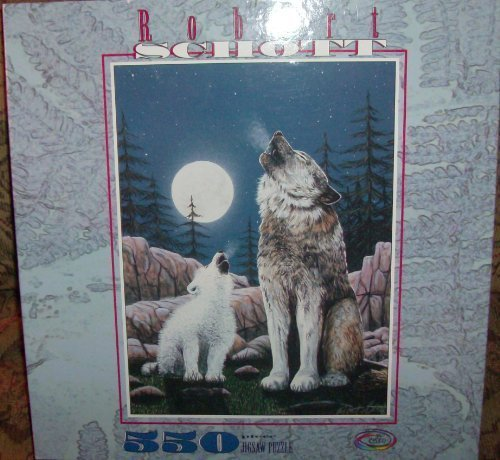 Price comparison product image Wolves Howling At the Moon Puzzle By Robert Schott by Unknown