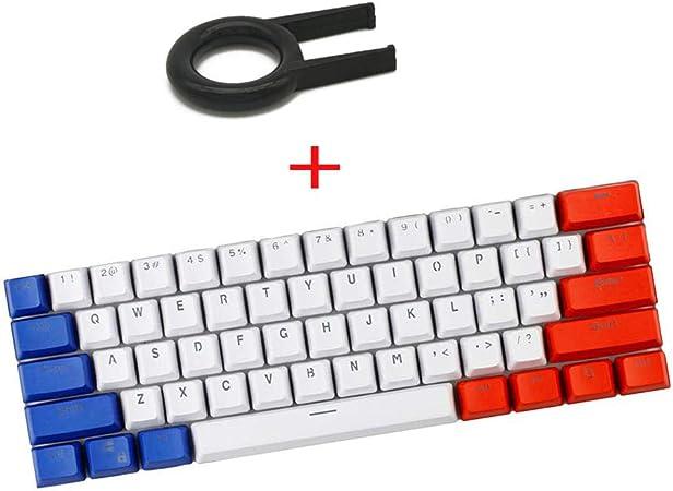 PBT Keycaps, teclado 60% teclas Pudding Keycap transparentes ...