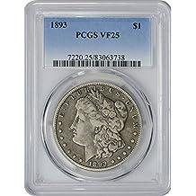 1893 Morgan Dollar VF25 PCGS