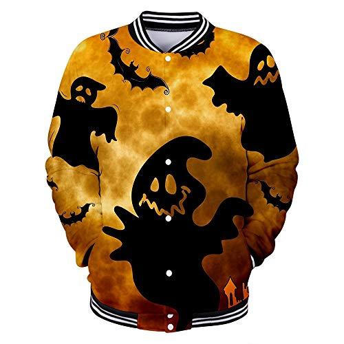 Beautyfine Mens Casual Long Sleeve Sweatshirt Scary Halloween Lover 3D Print Party NO Hoodie Top ()