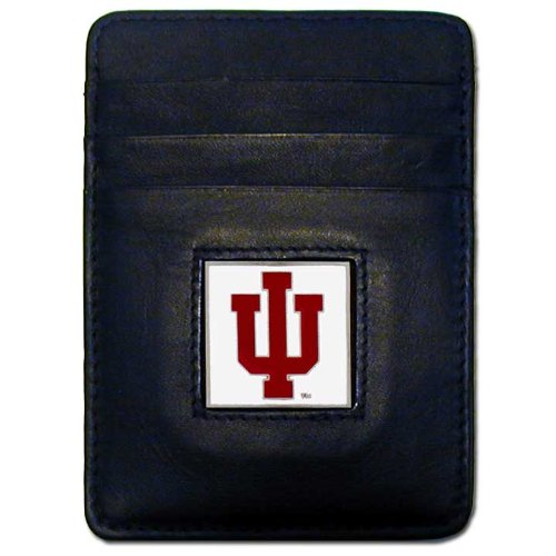 (NCAA Indiana Hoosiers Leather Money Clip/Cardholder Wallet)