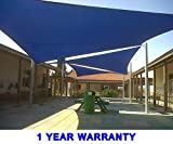 Quictent 26 X 20 ft 185G HDPE Rectangle Sun Sail Shade Canopy UV Block Top Outdoor Cover Patio Garden Blue