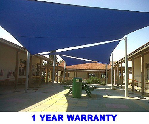 Quictent 26 X 20 ft 185G HDPE Rectangle Sun Sail Shade Canopy UV Block Top Outdoor Cover Patio Garden Blue by Quictent