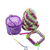 Clearance Deal! Hot Sale! Storage Bag, Fitfulvan New Mesh Bag Lightweight Portable Yarn Crochet Thread Storage Organizer Tote (Purple)