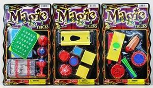 3 Magic Trick Set - Coin Trick, Guillotine & Color Cube