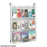 Safco Luxe Magazine Display Rack - 9 pocket, Silver-SL