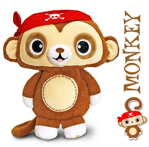 Pirate Monkey Soft Toy - 16cm - Toybox Collection by Keel Toys