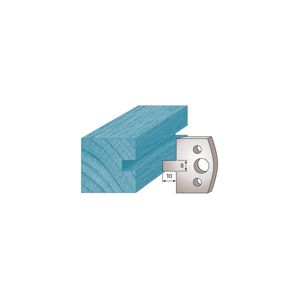 Diamwood Platinum - Jeu de 2 fers profilé s Ht. 40 x 4 mm rainure 8 mm M94 pour porte-outils de toupie - Diamwood Platinum
