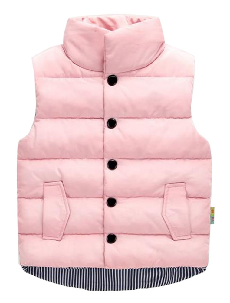 Unisex Baby Girls' Boys' Winter Cotton Vest Kids Tops Pink 90