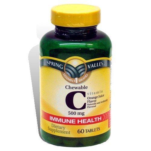 Spring Valley: Chewable C Vitamin Orange Juice Flavor