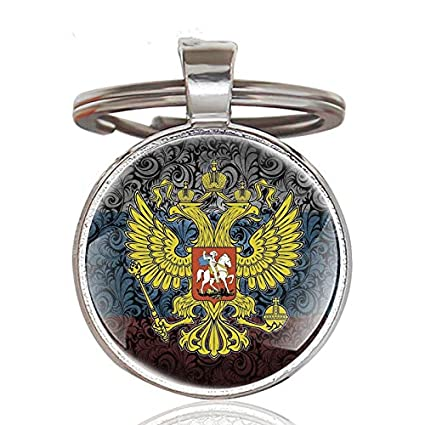 DADATU Llavero Clásico Ruso Nacional Emblema Doble Águila ...