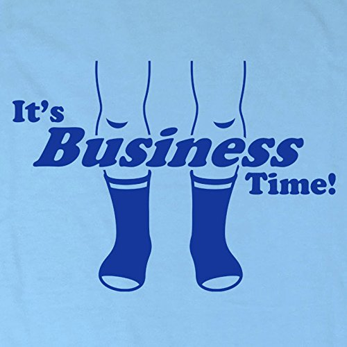Mens Business Time T Shirt - Sky Blue - Large by Refugeek Tees (Image #1)