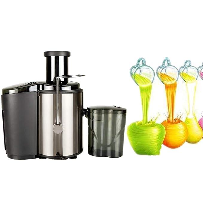 HOBBYN Juicer Extractor Whole Fruit Apple Orange Vegetable Centrifugal Juicer Machine Premium Stainless Steel Kitchen Home Use 800W 600ml